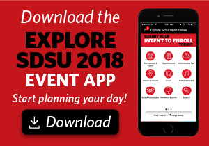 Download the Explore SDSU 2018 app and start planning today!