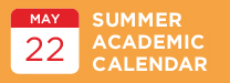 Summer Academic Calendar