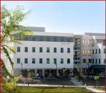 view of student health center