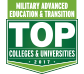 Military Advanced Education & Transition Top Colleges and Universities 2017