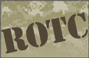ROTC letters on Camoflauge background